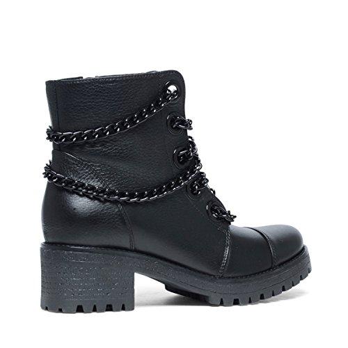 Sacha Damen Biker Boots Schwarz