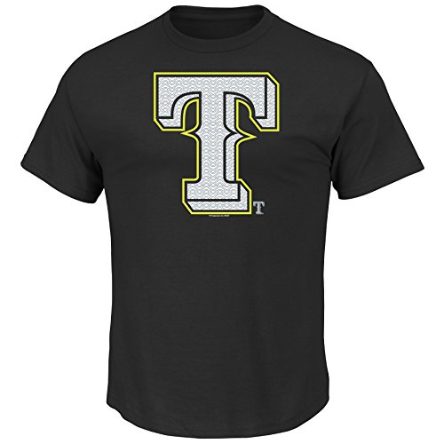 VF LSG MLB Texas Rangers Men's Game Maker Tee, Large, Black (Rangers Mlb Light Texas)