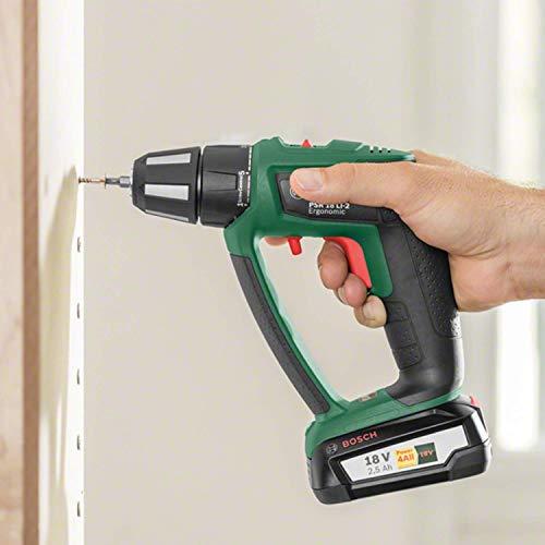 2506774-Bosch-Home-and-Garden-PSB-18-LI-2-Ergonomic-Corpo-Macchina-di-Trapano-Ba miniatura 3