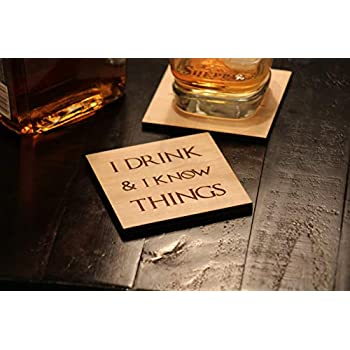 Boyfriend Gifts - Game of Thrones Gifts - Coaster Set of 4 - Game of Thrones I drink and I know Things Coasters