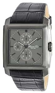 Kenneth Cole KC1817 - Reloj analógico de cuarzo para hombre con correa de piel, color negro