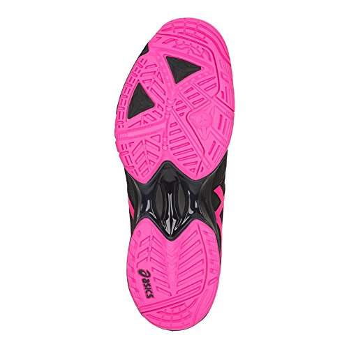 Asics Womens Gel-solution Speed 3 Scarpe Da Tennis Nere / Rosa Caldo / Argento