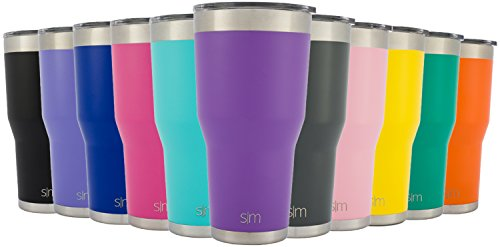 Simple Modern 30oz Cruiser Tumbler - Vacuum Insulated Double-Walled 18/8 Stainless Steel Hydro Travel Mug - Powder Coated Coffee Cup Flask - Lilac Purple