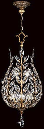 Crystal Gold Laurel Chandelier (Fine Art Lamps 776540, Crystal Laurel Large Bowl Pendant, 6 Light, 360 Total Watts, Gold)