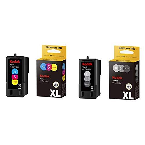 Kodak Verite 5 Replacement Inks (ALT1UA) XL Color Ink Jet Cartridge  &  Verite 5 Replacement Inks (ALK1UA) XL Black Ink Jet Cartridge