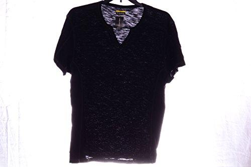 INC INTERNATIONAL CONCEPTS RIPPED SLIM T-SHIRT DEEP BLACK (Punto Blanco Cotton T-shirt)