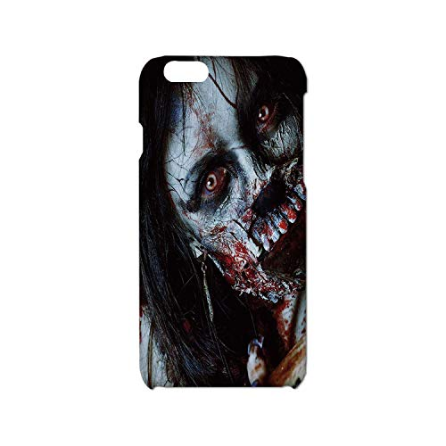 Zombie Decor Simple Phone Case,Scary Dead Woman with Bloody Axe Evil Fantasy Gothic Mystery Halloween Picture Compatible with iPhone 6/6s,iPhone 6,6s -