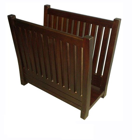 D-ART COLLECTION Mahogany Magazine Rack for sale  Delivered anywhere in USA