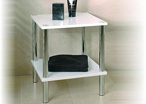 Beistelltisch Kleiner Tisch.Haku Möbel Beistelltisch Kleiner Tisch In Weiß Mit Chromoptik Höhe 47 Cm