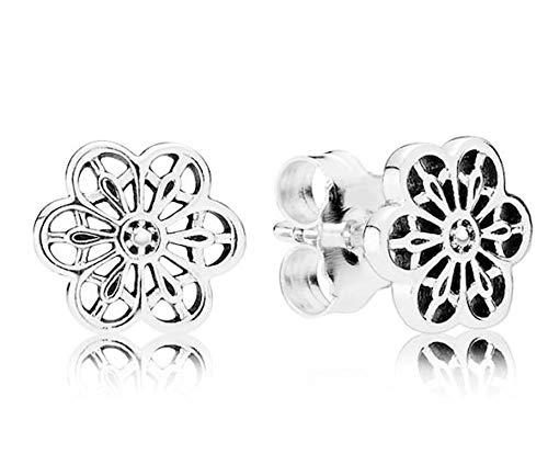 PANDORA Floral Daisy Lace Earring Studs - Daisy Floral Earrings