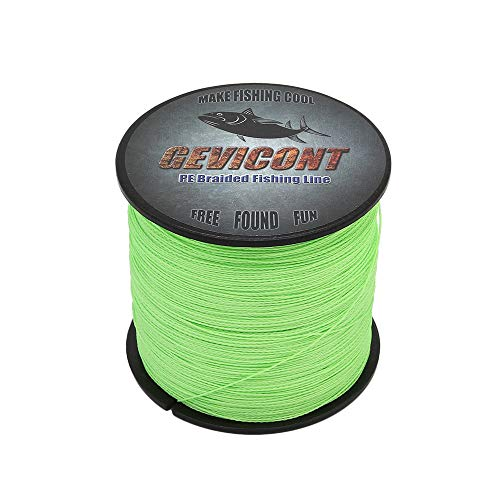 GEVICONT Fishing Line Super Strong Fishing Wire 100% PE 4X Strands 100M/109Yards 10lb to 100lb Available in 10 Colors for deep sea - Detect P