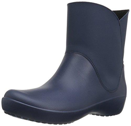 Crocs Rainfloe Bootie, Botas de Agua para Mujer, Blu (Navy), 34-35 EU