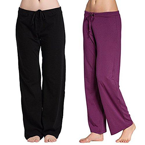 Elastique Lger d'intrieur de Large Pants Yoga Sunenjoy Pantalon Chic Large Dcontract Jogging t Ample Sport Noir Dtente Pantalon Femme Jambe aqY0wIq