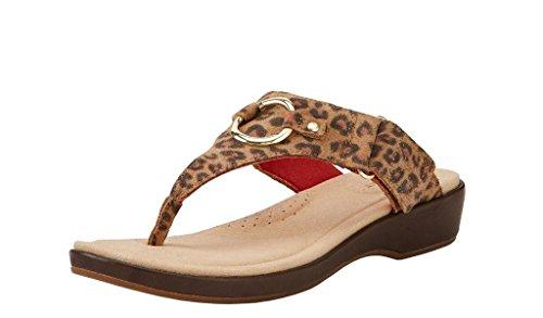 Ariat Women's Poolside Thong Sandal,Cheetah Full Grain Leather,US 8 B