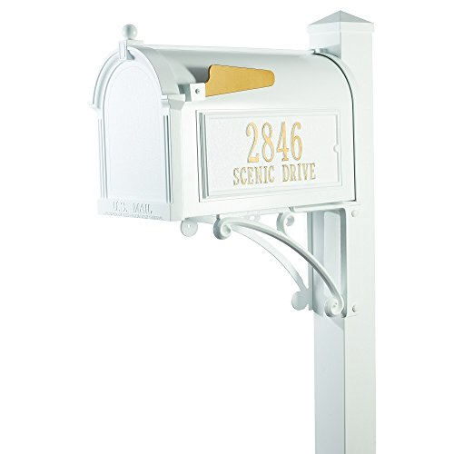 Whitehall Superior Mailbox Package with Custom Plaques and Post