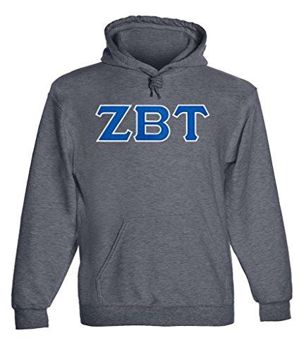 Greek Fraternity (Zeta Beta Tau Twill Letter Hoody Drk Hth)