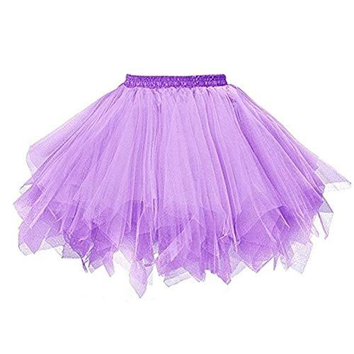 (MsJune Women's 1950s Vintage Petticoats Crinolines Bubble Tutu Dance Half Slip Skirt)