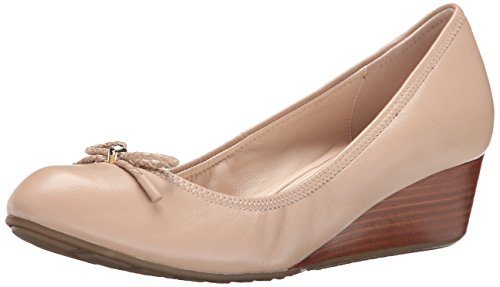 Cole Haan Women's Tali Grand Lace Wedge 40 Pump, Maple Sugar, 7 2A US by Cole Haan