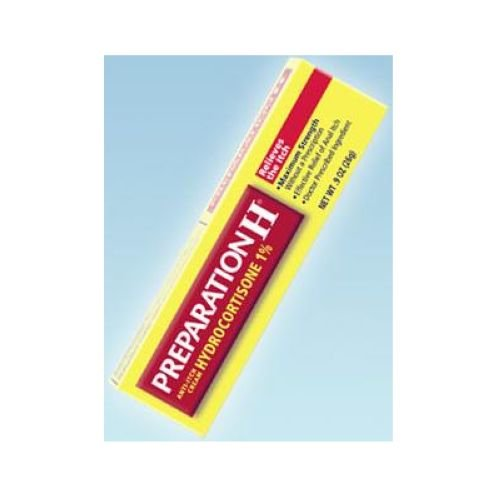 Preparation H Hydrocortisone Itch Relief Cream, 0.9 Ounce- 6 box per pack -- 6 packs per case.