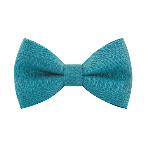 - Linen Classic Pre-Tied Bow Tie Formal Solid Tuxedo, by Bow Tie House (Small, Pine Green)