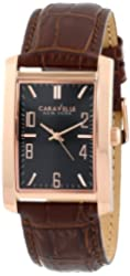 Caravelle New York Men's 44A104 Analog Display Japanese Quartz Brown Watch