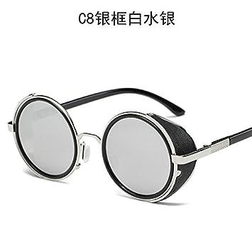 Trends Persönlichkeit Damen Sonnenbrille Metall Sonnenbrille , Silber Weiss