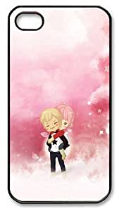iPhone 4s Cases, iPhone 4s Case - Cute Couple Cartoon Polycarbonate Plastics Hard Case Cover for iPhone 4s/4 - Black
