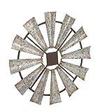 Deco 79 Indoor/Outdoor Large Brown & Silver Metal
