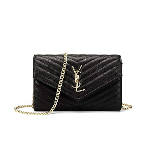 Women Small Black Shoulder Bag Wristlet Clutch Phone ()