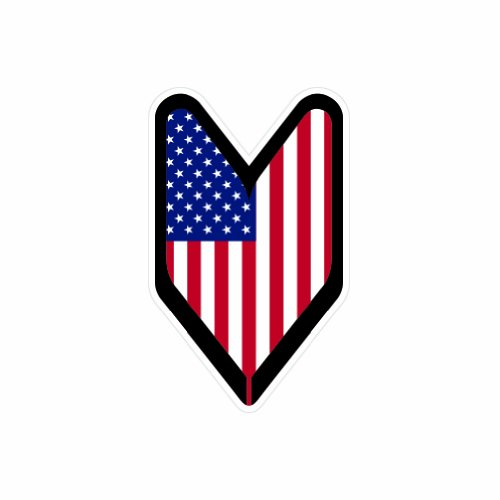 American USDM Driver Badge - Color Sticker - Decal - Die - American Badge Driver
