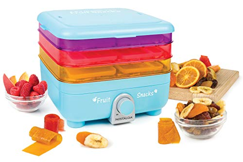 Nostalgia FSM3 Organic Leather and Fruit Chip Snack Maker, Blue