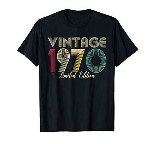 Vintage 1970 T-Shirt Limited Edition Men Women - Birthday