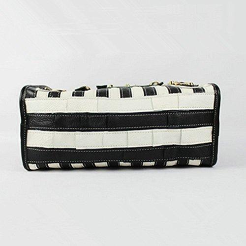 Eysee - Cartera de mano para mujer Varios colores multicolor 29cm*23cm*14cm Negro y blanco
