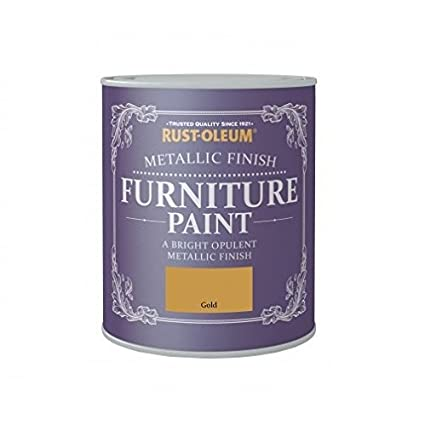 Amazon.com: Rust Oleum Metallic Finish Furniture Paint Gold 750ml By  Rustoleum: Home Improvement