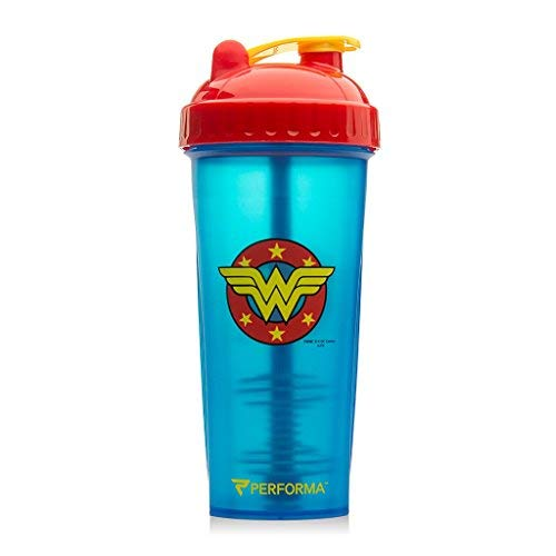 PerfectShaker Hero Series Nutrition Shaker Bottle, Wonder Woman