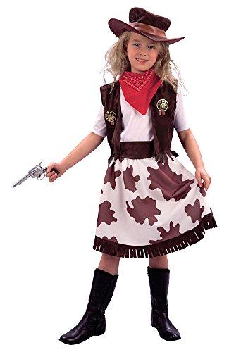 fashion design chic classico in uso durevole Bristol Novelty - Costume da cowgirl con gonna motivo mucca pezzata, bianco