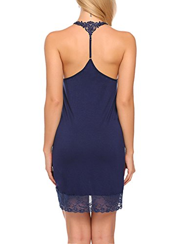 da Sexy Senza Donna Blu Notte Scollo S Maniche Abito Notte da a Abbigliamento Sexy Notte Camicia XXL V da qBZfgOq
