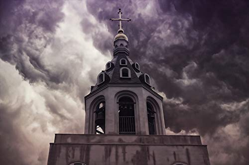 - Home Comforts Canvas Print Tower Bell Tower Cross Orthodox Church Vivid Imagery Stretched Canvas 32 x 24