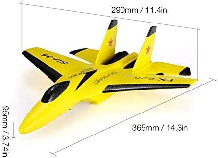 飛行機 おもちゃ マイクロインドアRC飛行機航空機290ミリメートルリモートコントロールグライダーについては初心者のプロフェッショナル 初心者 子供向け (Color : Yellow, Size : Ones)