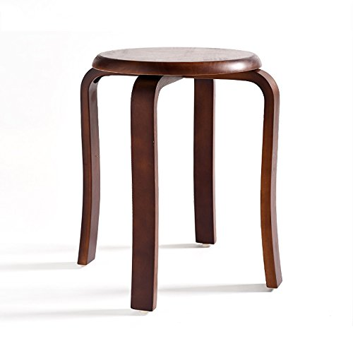 Solid wood stools, creative dining stools, fashion benches, home table and stools, low stools, round stools, multicolor options, easy installation, convenient stacking, D: 31cm, H: 45cm (Color : B) by PM-Stools (Image #9)