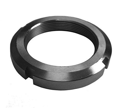 J.W. Winco KM-2 KM Bearing Lock Nut, M15 x 1.0 Thread, 25 mm OD, 5 mm Thickness, 4 mm Slot Width-2 mm Slot Depth (4) ()