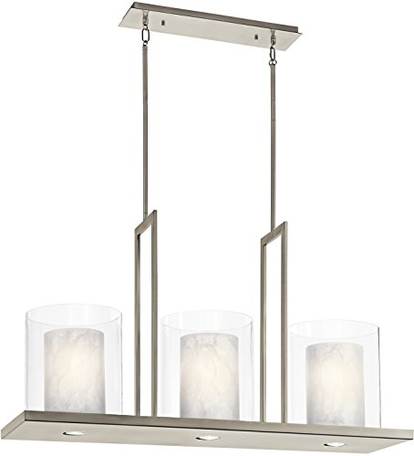 Pewter Light 3 Classic (Kichler 42548CLP Triad Linear Chandelier 3-Light, Classic Pewter)