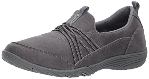 Skechers Womens Empress - Lets Be Real Walking Sneaker, Charcoal, Size 11 Wide