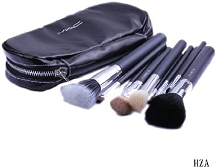 Mac 12 pcs kits juego de nuevo Pro cepillo cosméticos pinceles de maquillaje Make Up Tool colección DRES + negro funda bolsa para sombra de ojos, rubor, delineador de ojos, etc.: Amazon.es:
