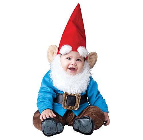 InCharacter Lil' Garden Gnome Infant Costume-X-Small (0-6) Blue/Red