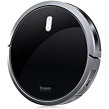 Robot Vacuum Cleaner, Oregon Scientific Strong Suction Robot Cleaner with Drop-Sensing System and Self-Charging Function for Carpet and Hard Floor (1400Pa)