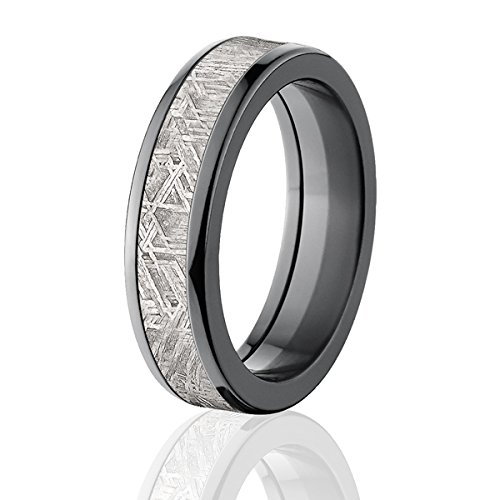 6mm half round meteorite rings bands meteorite wedding rings - Wedding Rings Amazon