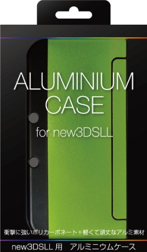 Green Aluminum Case (ALLONE new3DS XL Aluminum Metal Case Protector Cover -Lime Green-)