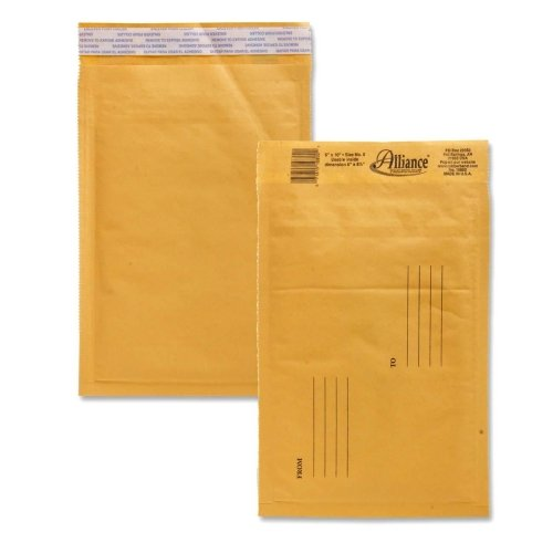 Wholesale CASE of 15 - Alliance Naturewise Hefty Cushioned Mailers-Envelopes,No. 0,Bubble (Alliance Rubber Bubble Mailers)