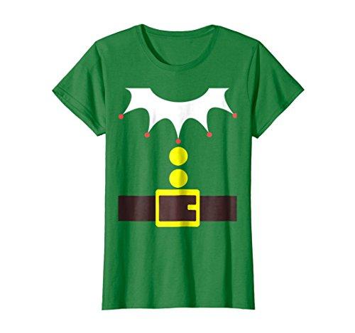 Womens Elf Costume TShirt Funny Christmas / Xmas
